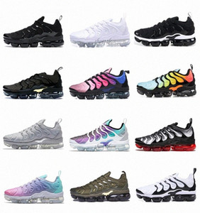 voar sapatos venda por atacado-2020 PLUS Run Utility tn Mens Womens MOC FLY KNIT Running Shoes Trainers Outdoors Sports Sneakers EUR Violet Spirit Teal B6qO