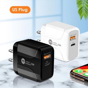 18W Quick Charge QC 3.0 PD Type c USB Wall Charger EU US UK Plug For Iphone 7 8 X Xs Max 11 Pro 12 12 Mini Samsung Android phone