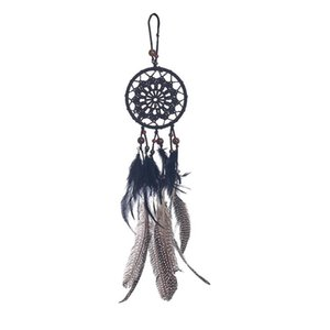 ingrosso tessuto da sogno-Dreamcatcher Tessitura pizzo Dream Catcher Girlish Heart Retro Dream Feather Door Ornaments Pendente Parete Appeso Decorazione GWE3704