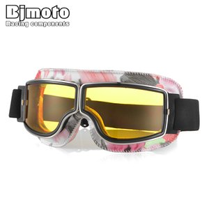 Wholesale lenses moto resale online - Unisex Motorcycle Foldable cycling Glasses Windproof for ATV pit bike Vintage Moto classic Goggles with proof PC lens