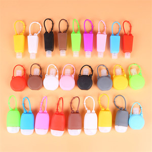 Wholesale liquid hand sanitizer resale online - 30ml Blank Hand Sanitizer Holder Portable Travel Bottle Gel Holder Alcohol Liquid Soap Dispenser Containers Silicone Split Bottles EEA6