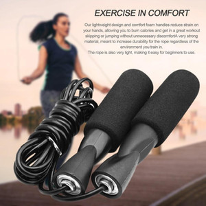US Stock, 2021 Exercise Equipment Adjustable Skipping Sport Jump Rope Bearing Skip Rope Cord Speed Fitness Aerobic Jumping Black FY6160