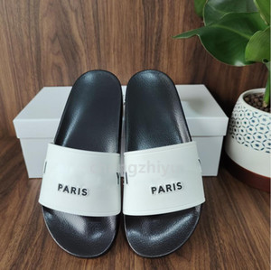Wholesale pvc showers resale online - Top Quality Paris Fashion Mens Womens Summer Rubber Sandals Beach Slide Fashion Scuffs Slippers Indoor Shoes Size With Box
