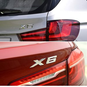 Wholesale tail trim resale online - X1 X3 X5 X6 GT Trunk Letter Sticker Decor For BMW M Power E53 E70 E71 E72 F15 F16 F48 Tail Font Logo Badge Trim Decal Car Tuning