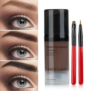 Wholesale eye brow dye for sale - Group buy Top Best Quality Eyebrow Dye Gel Cream Vacuum Waterproof Long Lasting Makeup Shadow for Eye Brow Enhancers Cream with Brush Set