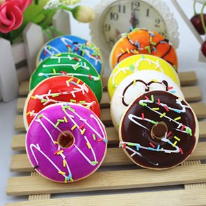 Simulation Cute Donut Squishy Squeeze kawaii Toy Stress Reliever Soft Colourful Doughnut Scented Slow Rising Toys