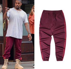 Season Sweatpants 4 Crewneck S-3XL CALABASAS Pants Men loose Joggers Comfortable Men Elastic Pants Hip Hop KMK0050-4