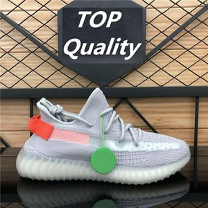 Wholesale girls 13 boot resale online - TOP Quality Kanye West BIG SIZE Men Women Running Shoes Tail Light Zyon Zebra Cinder Yecheil Israfil Asriel GID Linen Trainers sneakers