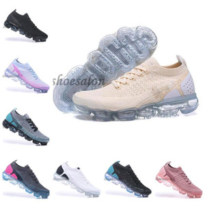 ingrosso scarpe da trekking uomo-2018 Multi Color nike vapormax max air plus vapor Mens max Womens Knit Vapors Black moc Running Shoes Triple Black White Run Sneakers Zapatos Trainers