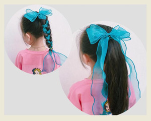 6pcs New Fairy Long yarn Bowknot Hair Clip Children's Hair Bow Girl's Accessories Hairpin Headwear Drop shipping