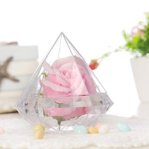 recyclage plastique achat en gros de-news_sitemap_homeFête de mariage Home Clear Diamond Shape Transparent Plastic Favorie Décoration de mariage Box Box Clear Plastic Conteneur DHD3226