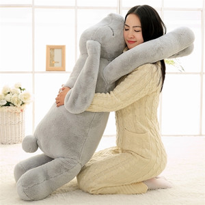 Wholesale giant plush pillows for sale - Group buy Export Korea Giant Plush Bunny Toy cm cm Soft Cartoon Big Ear Rabbit Plush Hug Toy Rabbit Stuffed Pillow Girl Gift