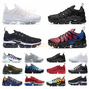sapatos esportivos almofada de ar venda por atacado-airmax vapormax vapors air Venda Preferencial TNS PLUS Sapato Ultra Corrida Zebra Clássico Exterior Exterior Tn Cushion Sapatos Esporte Choque Runner Sneakers Mens Requin