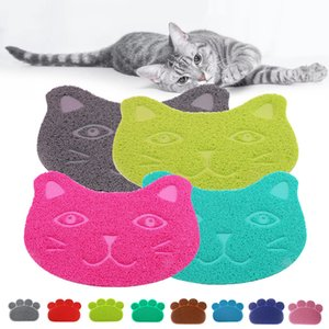 Wholesale bedding mat for sale - Group buy Pet Dog Mat Pad Paw PVC Bed Dish Placements Cat Litter Mat Pet Food Water Feed Placement Pets Carpet Pet Accessories DHA3149