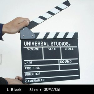 Wholesale wooden clapper for sale - Group buy Wooden Director Movie Scene Clapperboard TV Video Clapper Board Film Photographic Prop Crafts Home Decoration Accessorie