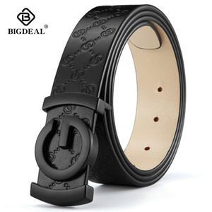 Wholesale skinning jeans resale online - men belt cow genuine leather designer belts for men high quality fashion vintage male women strap for jeans cow skin LJ200901