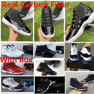 Wholesale carbon fiber for sale - Group buy Real Carbon Fiber Jubilee th Anniversary With OG Box basketball sneakers bred s Gym Red Concords Prom Night High Men Shoes