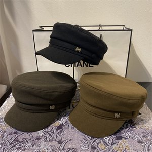 Wholesale browning straw hat resale online - Dijia new sail velvet military cap simple wind report children s hat Korean version