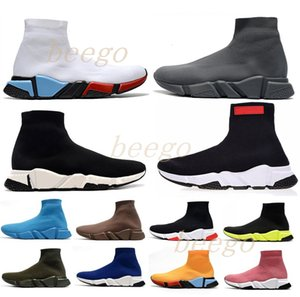 Wholesale gold toe socks resale online - with box designer man women speed trainer sock boots mens womens socks boot casual shoes shoe runners runner sneakers H