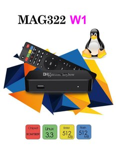 Wholesales MAG 322w1 Build in Wifi Latest Linux 3.3 OS Set-Top Box MAG322 w1 HEVC H.265 Box Smart Media Player mag322w1