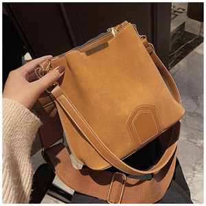 PB0003 New Fashion Women Bags Simple PU Leather Frosted Handbag Single Shoulder Bag with Versatile Bucket Bag 4Colors