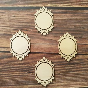 Wholesale diy mirror frame for sale - Group buy 10x Vintage Classic Wooden Mirror Frame Shapes Wood Embellishment Ornament for Scrapbooking Card Wall Hanging DIY Frames1