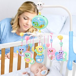 Wholesale baby music mobiles resale online - Cradle Mobile Musical Bed Bel Music Newborn Baby Girl Cute Cartoon Rammelaars Toy Dropshipping
