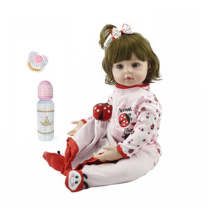 Wholesale silicone dolls body for sale - Group buy Toy Full body silicone water proof bath toy popular reborn toddler baby dolls bebe doll reborn lifelike gift with pearl bottle C1204