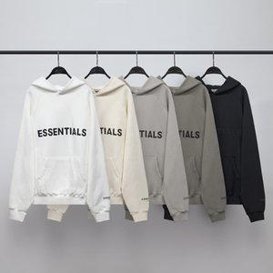 Wholesale line men resale online - High Street FEAR OF GOD ESSENTIALS New Double line FOG Sweater Coat Trendy Brand Reflective Letters Loose Fashion Hoodies