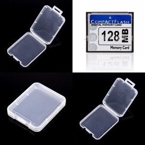 Wholesale cf cards resale online - CF Card Rhiannon Protection Case Portable Pure Color Transparent Plastic Storage Boxs Easy To Carry New Arrival ys J2