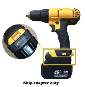 adapter for makita BL1820 30 Li-ion Battery convert to for dewalt 20V Tool battery -LED indicator