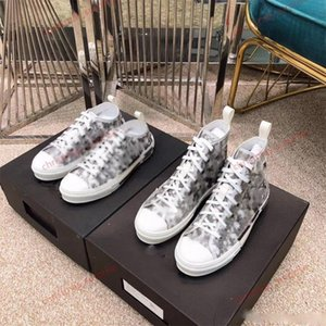 Wholesale wholes men shoes resale online - HIGH TOP SNEAKERS IN By Jones With Fashion Design Classic Oblique Printing Logos Men Women Basketball Shoes Skate Shoes