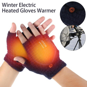 Wholesale heat gloves for sale - Group buy Winter Electric Heated Gloves Windproof Cycling Motorcycle Racing Outdoor Gloves USB Powered Warm Heated For Men Women
