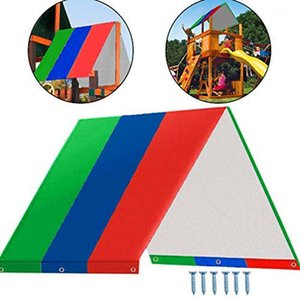 Wholesale playgrounds sets resale online - Swing Set Replacement Tarp Waterproof Trap Cover for Kids Playground Outdoor Sunproof Green Blue Red