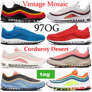New 97OG running shoes triple black summit white Vintage Mosaic London summer of love Olympic rings pack corduroy desert sneakers trainers