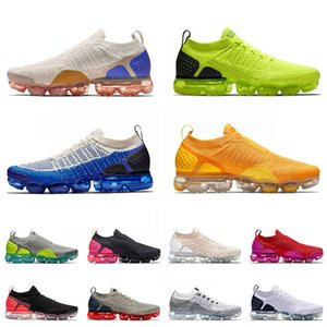 Wholesale vapor max for sale - Group buy 2021 FLY KNIT MOC Tn Plus Running Shoes Sail Volt Mens Womens Race Blue University Gold Air Vapor Airmax Max Sneakers