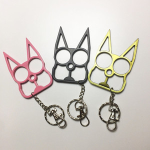 Wholesale cute birthday gifts friends resale online - Self Defense Keychain Portable Cute Cat Key Chain Bottle Opener Screwdriver Keyring Women Men Kids Family Friends Charm Party Birthday Gifts