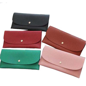 Wholesale buckles credit card for sale - Group buy Buckle wallet designer long wallet lady multicolor designer coin purse Card holder women classic pocket clutch