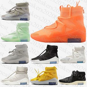 Wholesale laced up boots for sale - Group buy 2021 fear of god New fashion shoes men women fog boots green black yellow casual sports sneakers trainers