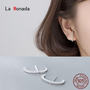 Wholesale fine c for sale - Group buy La Monada Stud Earrings For Women Silver Minimalist C Smail Fine Women Earrings Jewelry Stud Sterling Silver
