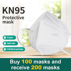 KN 95 adult disposable dust mask meltblown cloth protective mouth and nose cover non-woven breathable material E mail treasure shipment