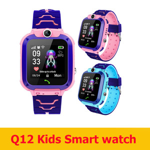 Wholesale play kids game resale online - 2020 Newest Q12 Kids smart watch bracelet child LBS Located smartwatch Q12 with waterproof retail box for kids outdoor play game