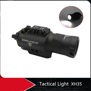 Wholesale picatinny rail hunting resale online - XH35 Ultra High Dual Output White LED Tactical Light Brightness Adjustment Strobe Hunting Flashlight For mm Picatinny Rails