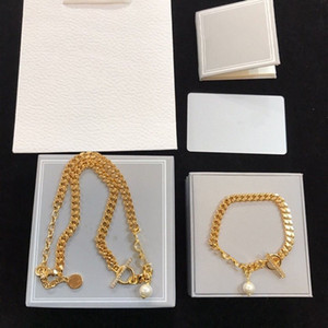 Wholesale chokers pearls resale online - New Fashion Necklace for Woman Gold Necklace Pearl Gem Chain High Quality Trend Necklace Jewelry Supply Bracelet