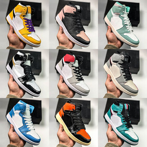 frauen sneaker basketball schuhe großhandel-Mens Basketball Shoes Turbo Green High Mid OG s Women Smoke Grey Blue Banned Bred Chicago Black Toe Court Purple UNC Premium Sneakers