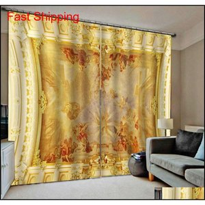 Wholesale curtains designs for living room resale online - Soundproof Windproof Curtain European d Curtains Angel Design Curtains For Living Room Bedr jllXWy bdefight