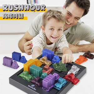 Wholesale logic puzzles resale online - Rush Hour IQ Car Logic Game Toy Educational Puzzle Toy Creative Plastic Board Game Racing break car Toys For Children