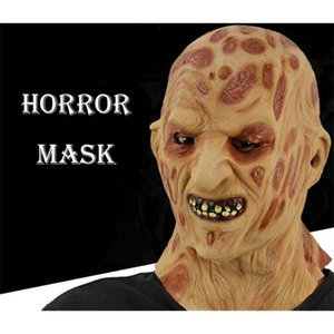 Wholesale mask horror zombie resale online - Burn Face Realistic Adult Party Costume Horror Scary Halloween Carnival Cosplay Zombie Mask