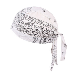 Wholesale accessories bikes for sale - Group buy Women Men Cotton Skull Caps Paisley Bandanas Headwear Unisex Bicycle cycling Hat Amoeba pirate bike hat hair accessories DDA2674