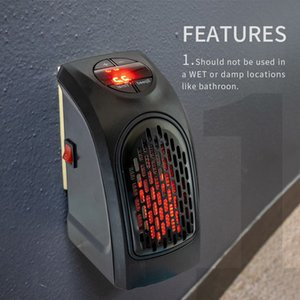 Wholesale electric wall heaters resale online - Household Electric Heater W Wall Outlet Portable Fan Handy quick heat Desktop home office heater Timer Digital Stove Warmer Machine